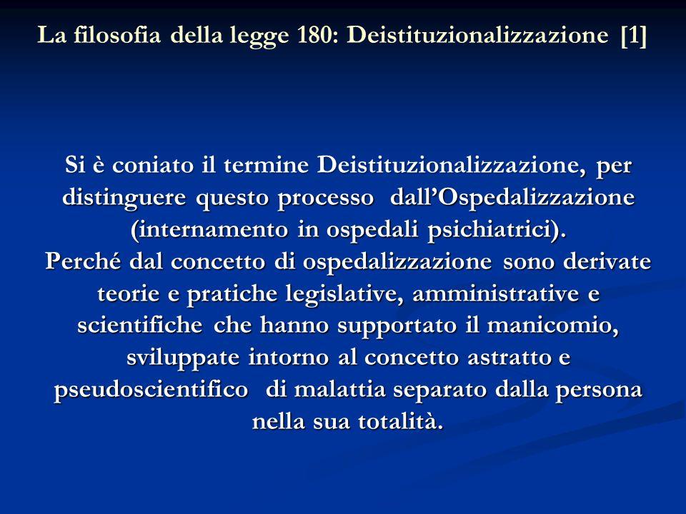 La filosofia della legge 180: Deistituzionalizzazione [1]